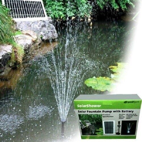 Pondxpert Ducha Solar Jardín Fuente Estanque de la bomba & Luz LED Bomba Solar Completa