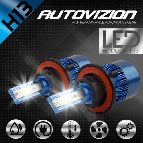AUTOVIZION LED HID Headlight Conversion H13 9008 6000K 2007-2016 Jeep Wrangler