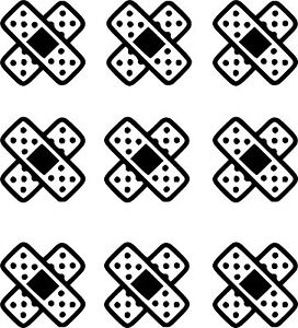 9-UNIDADES-PEGATINAS-STICKERS-Tiritas-5-CM-VINILO-Vinyl-Aufkleber