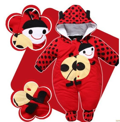Baby Girls Boys Hoodie Jumpsuit Romper Winter Outwear Clothes Outfits Cow