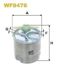 Wix WF8478 Fuel Filter for Nissan Qashqai X-Trail 07-13 with sensor 16400JY00B
