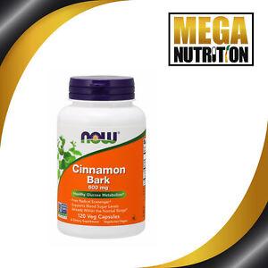 NOW-Foods-Zimtrinde-600mg-120-Kapselns-Cinnamon-Glukosestoff-Wechsel-Ergaenzung