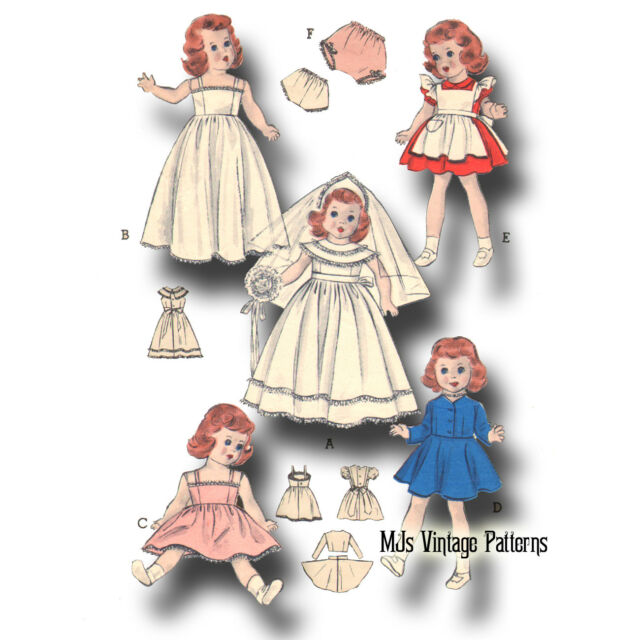 "Dollikin Vintage 14/"" 15/"" Doll Clothes Pattern ~ Miss Revlon Toni Sweet Sue"
