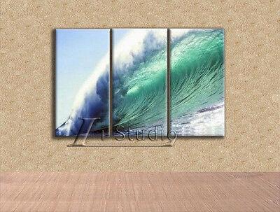 Framed Handmade Modern Abstract Art Oil Painting Wall Deco on canvas-Seascape