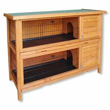 Clapier double / Cage à lapin en bois / Cabane pour lapin ou rongeur