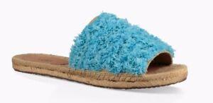 086a6763210 Details about UGG Australia Edith Slide Yarn Fringe Aqua Blue 1090849  Slides Sandals 6.5 7 7.5