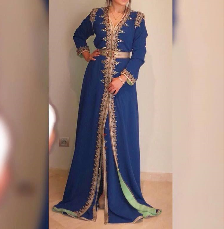 Luxe Robe de Mariage Royale Marocaine Caftan Abaya Arabe Robe Femme Caftan