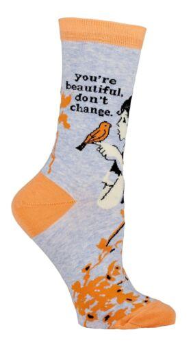 You/'re Beautiful Blue-Q Women/'s Crew Socks New Novelty Acceptance Fashion