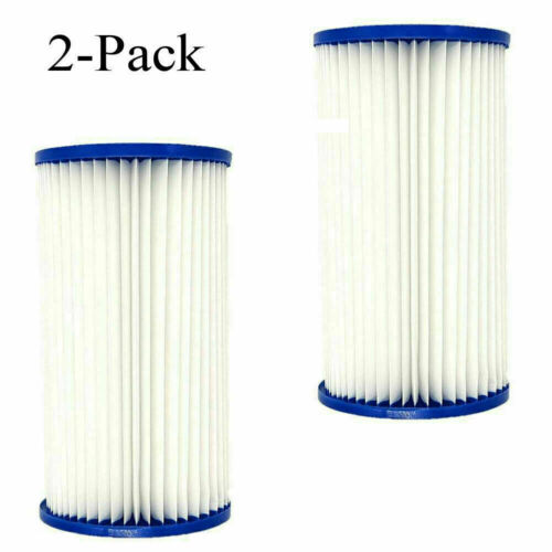 Summer Waves Universal Pool Filter Cartridge Replacement Type A or C 2-Pack New