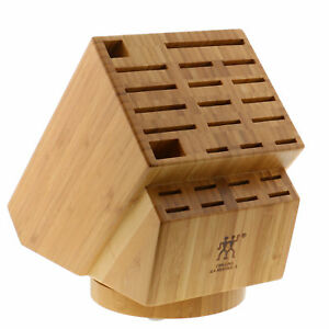 ZWILLING-J-A-Henckels-26-slot-Bamboo-Swivel-Knife-Block