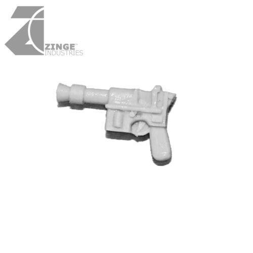 Zinge Industries Infantry Human Heavy Mauser Pistols Set of 5 Guns Bits S-GPI05