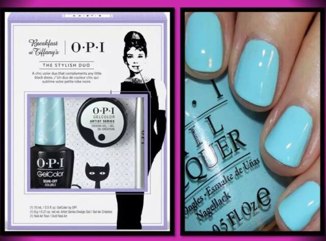 OPI BREAKFAST AT TIFFANY'S THE STYLISH DUO ARTIST GEL COLOR NAIL POLISH SET TOOL