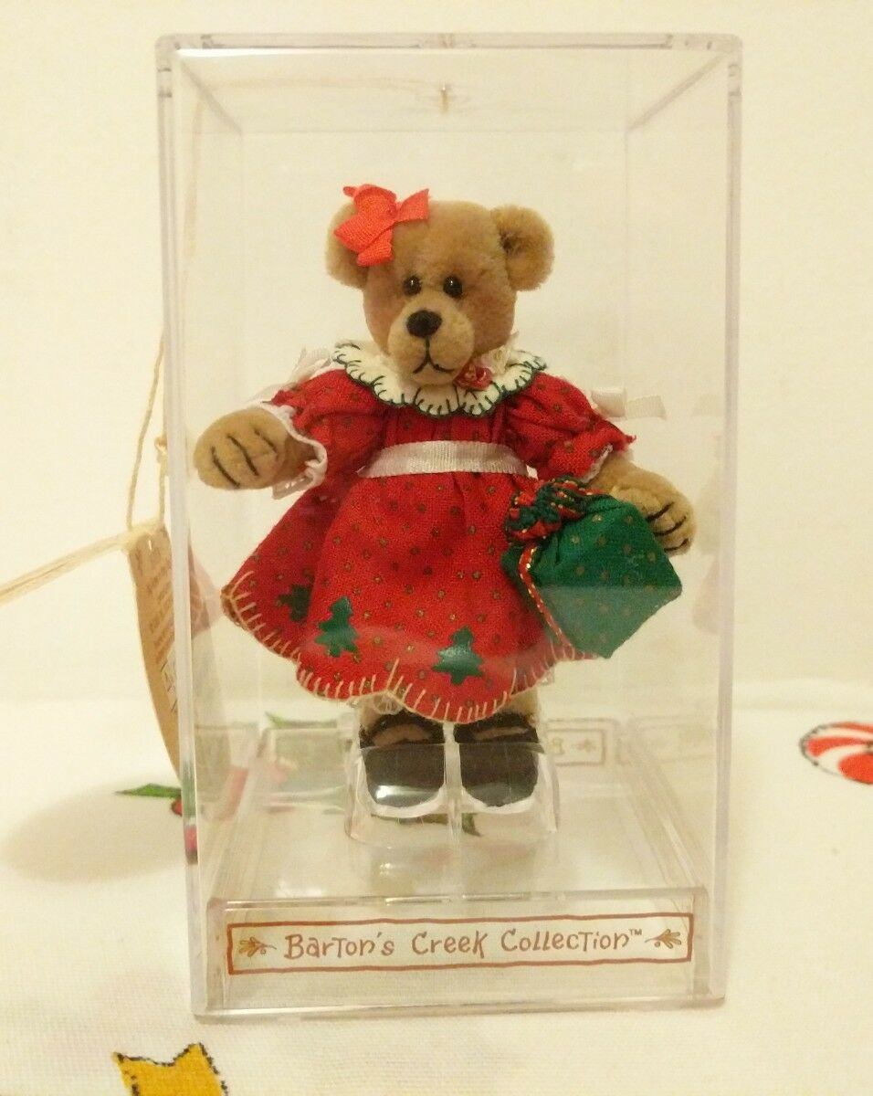 AMY JOY GIVING Bartons Creek Collection Miniature Christmas Teddy Bear GUND LTED