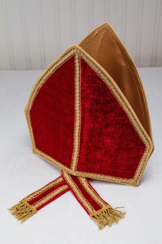 KarnevalsTeuel Bischof Kostüm Samt Nikolaus hochwertig weinrot edel 12289013