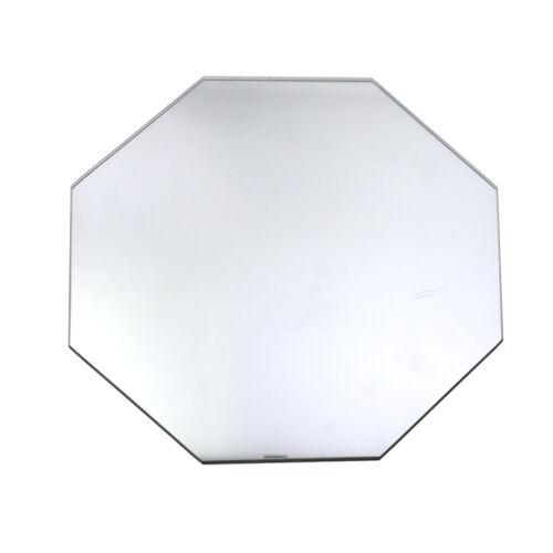 Clear 13-3//4-Inch Octagonal Glass Centerpiece Mirror
