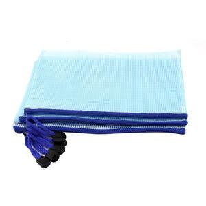 PVC-Gewebe-Leitungsrohr-ID-A5-Dokumenten-Tasche-Beutel-5-Stueck-hellblau-A6S2