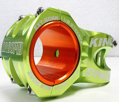 """1-1//8/"""" Stem 31.8mm // 35mm Green 0 Deg DA BOMB KING DH//FR  Stem"""