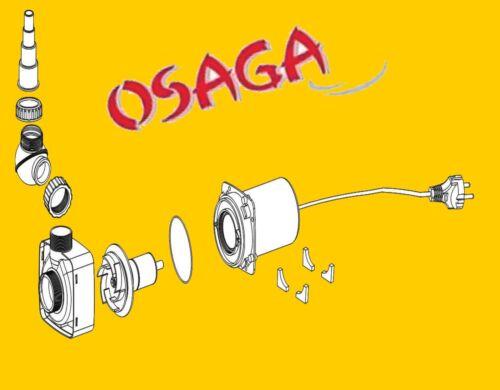 Bachlaufpumpe Koi Osaga Teichpumpe schwarze Flunder Eco OSF-4500E Teichfilter u