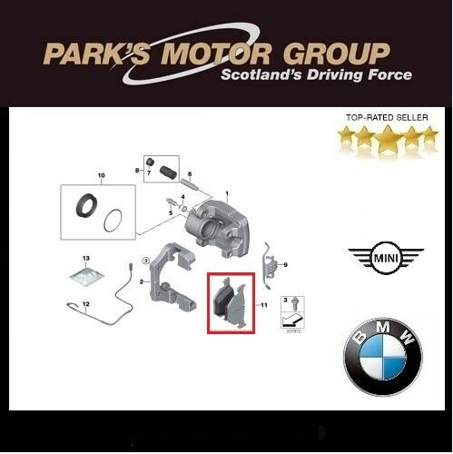 BMW Genuine Rear Brake Pads X5-E70 F15 X6-E71 F16 34216776937