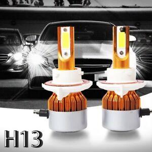 2pzs-C6-LED-Kit-de-faros-de-coche-COB-H13-36W-7600LM-bombillas-de-luz-blanca-Oro