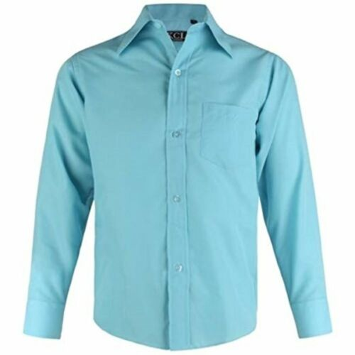 Boys KCL Shirt Wedding Christening Smart Party or Casual Long Sleeved 1-15Y