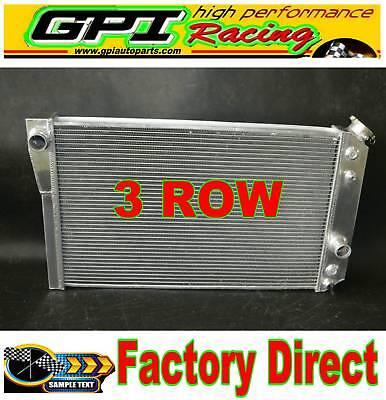 2 ROW Aluminum Radiator for 1984-1990 Chevrolet Corvette C4 Small Block V8 5.7L