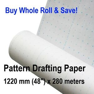 Details about Patternmaking Paper Whole Roll Pattern Making Drafting Sewing  Patterns Clothing