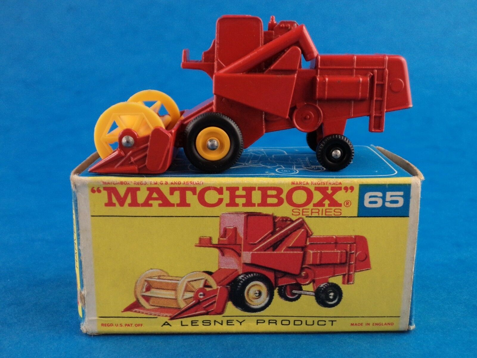 Lesney Die-Cast Toy MATCHBOX - CLAAS COMBINE HARVESTER - With Box