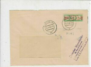 Germany DDR 1960 Central Courier Service Berlin N4 Cancel Stamps Cover Ref 24222