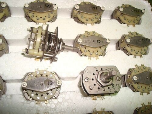 NOS Lot of 2 Rotary Switch 3 pole 3 positions PG15-121
