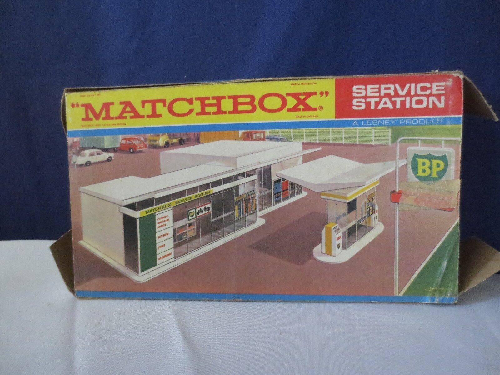 Vintage Lesney Matchbox BP Service Station MG-1 Made in ENGLAND  RARE