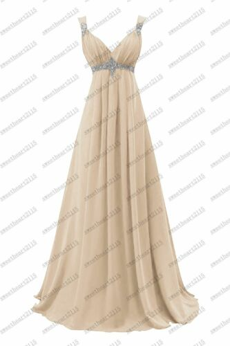 Formal Chiffon Evening Gown Ball Party Prom Bridesmaid Dresses Custom Size 6-28