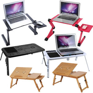 Image Is Loading Adjustable Portable Folding Table Bed Desk Stand For