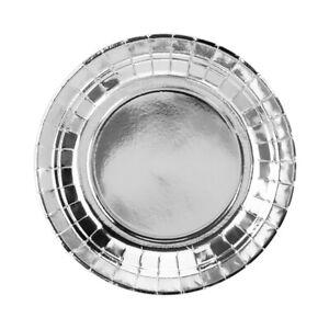 Pappteller-silber-metallic-18-cm-6-Stueck