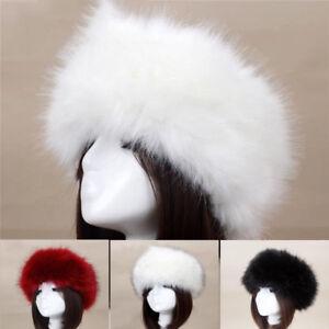 3241e4340 Women Russian Thick Fluffy Cap Fake FAUX Fur Headband Hat Winter Ear ...