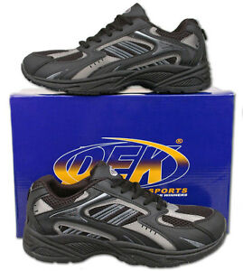 Mens-New-Lace-Up-Black-Casual-Sports-Style-Trainers-Size6-7-8-9-10-11-12-13