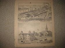 ANTIQUE 1877 SAGINAW CITY SAGINAW COUNTY MICHIGAN PRINT SAW MILL SALT WORKS NR