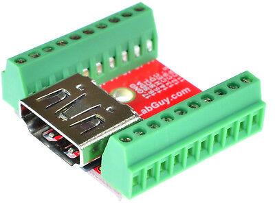 eLabGuy HDMI-AF-BO-V1AC HDMI Type A Female socket Breakout Board adapter
