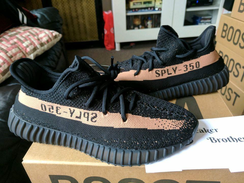 Adidas Yeezy Boost 350 V2 Black Copper Core SPLY Kanye West BY1605 Beluga Pirate
