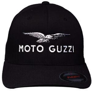Moto Guzzi Logo Hat with GP Motorcycles Logo on Back, L/XL