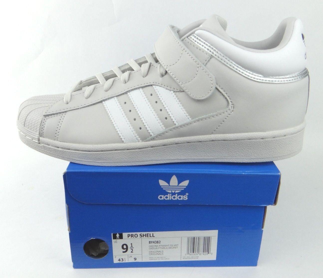 Pennino adidas originali originali originali (shell uomini è grigio e bianco argento metallico by4382 superstar 4572fc