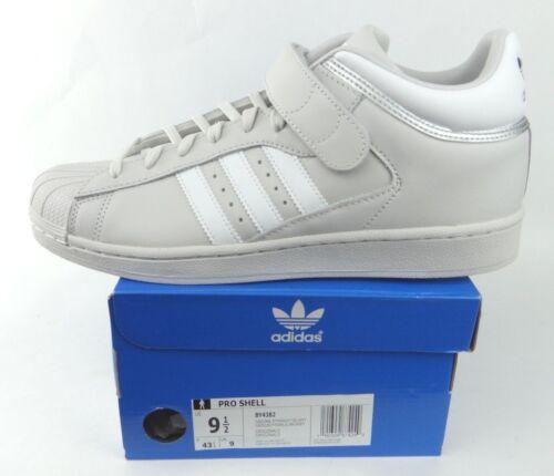 NIB Adidas Originals Pro Shell Men/'s Gray White Silver Metallic Superstar BY4382