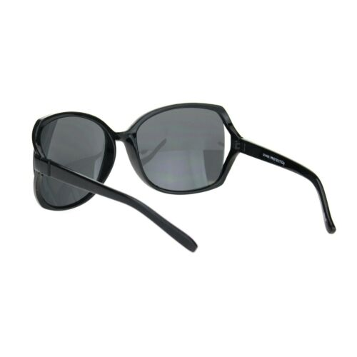 Womens Large Exposed Side Lens Butterfly Plastic Sunglasses