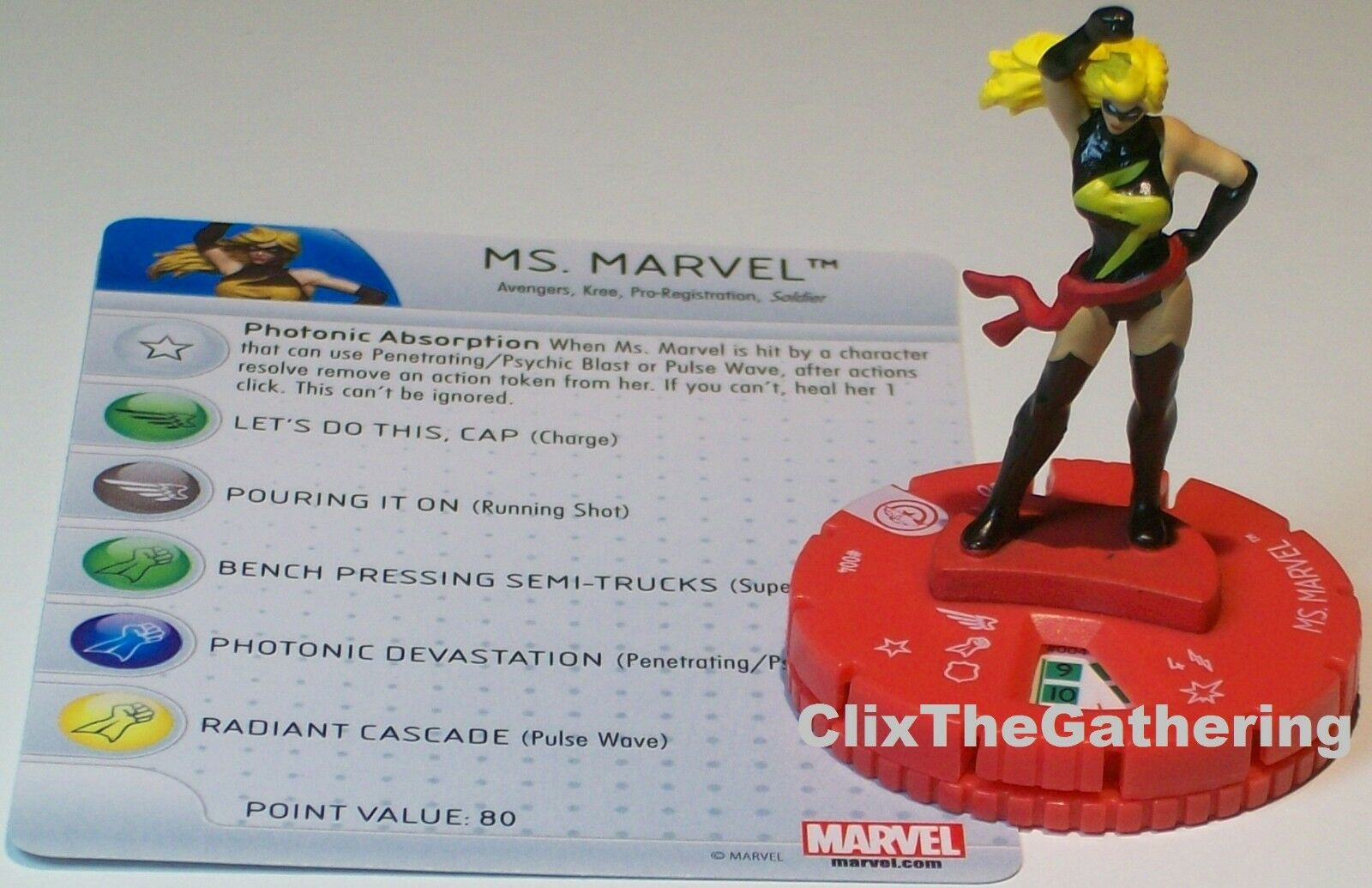 Ms. Marvel  004 Guerra Guerra Guerra Civil Storyline Marvel Heroclix 453710