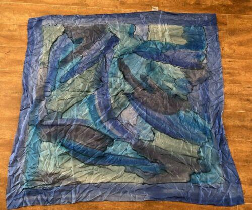 "Diana New Zealand 41"" Pure Silk Scarf Pashmina bl… - image 1"