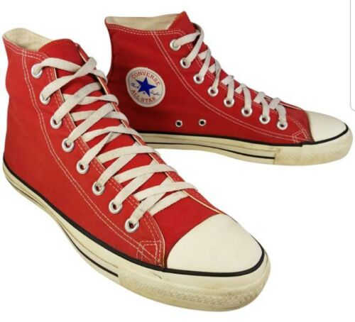 VINTAGE USA MADE CONVERSE HIGH TOP RED SNEAKERS SI