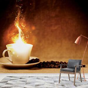 Details zu Tapete Fototapete für Küche Esszimmer Kaffeebohnen Bohnenkaffee  Coffee Cafe Fire