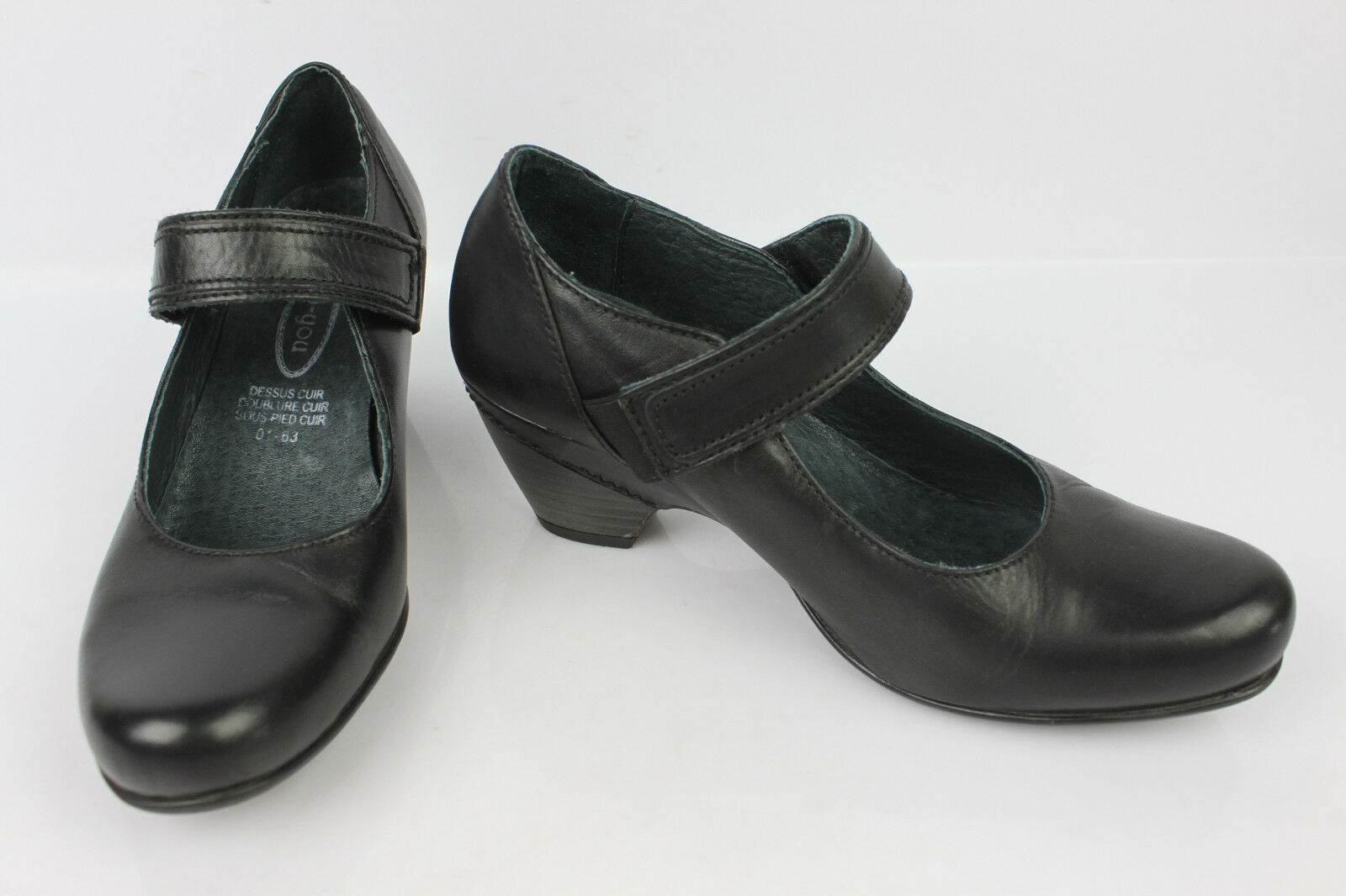 Court shoes flanged B-YOU Black Leather UK 4   FR 37 TOP CONDITION