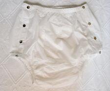 CULOTTE INCONTINENCE OUVRANTE en PLASTIQUE BLANC ABDL PVC plastic pants XL42/46