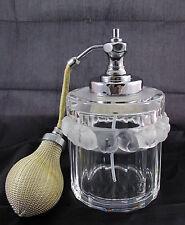 Lalique Crystal Art Glass Robinson Sparrows Birds Atomizer Perfume Bottle